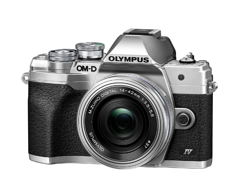 Olympus Cámara Evil OM-D E-M10 Mark IV Plata Objetivo14-42 EZ Plata
