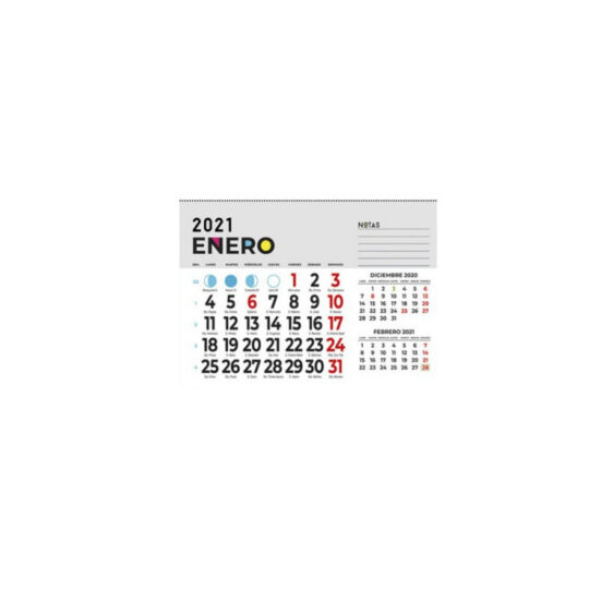 Faldilla calendario 15x12 Paquete 100 unid.