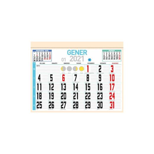 Faldilla calendario 31,5x24 Catalán Paquete 50 unidades | FAL4C