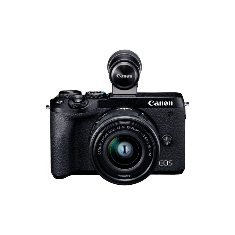 Canon Cámara Evil Eos M6 Mark II EF-M 15-45mm F3.5-6.3 IS STM + EVF-DC2
