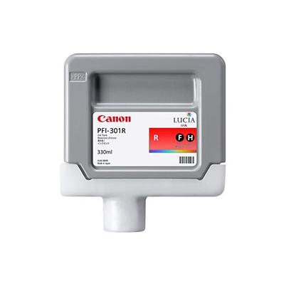 Cartucho Tinta - Canon PFI-301 R 330 ml Rojo | 1492B001AA