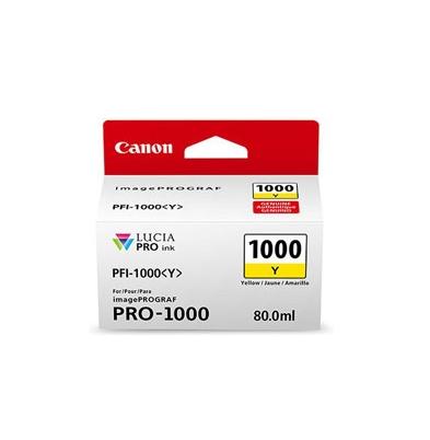 Cartucho Tinta - Canon PFI-1000 Y 80 ml Amarillo | 0549C001AA
