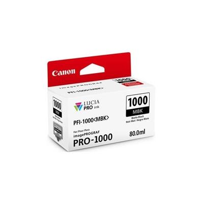 Cartucho Tinta - Canon PFI-1000 MBK 80 ml Negro Mate | 0545C001AA
