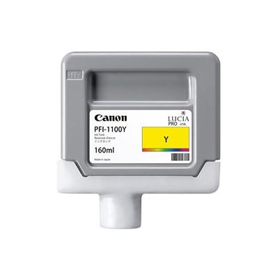 Cartucho Tinta - Canon PFI-1100 Y 160 ml Amarillo | 0853C001AA