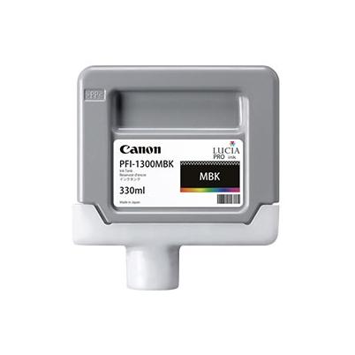 Cartucho Tinta - Canon PFI-1300 MBK 330 ml Negro Mate   0810C001AA