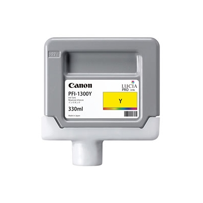 Cartucho Tinta - Canon PFI-1300 Y 330 ml Amarillo | 0814C001AA