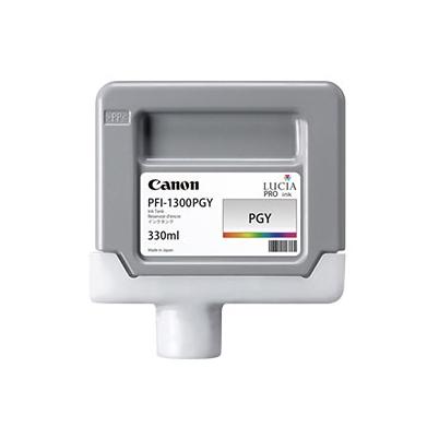 Cartucho Tinta - Canon PFI-1300 PGY 330 ml Gris Foto   0818C001AA