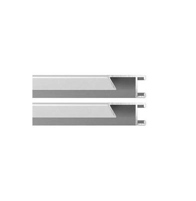 Marco Aluminio II Kit 2 Perfiles 100Cm Plata