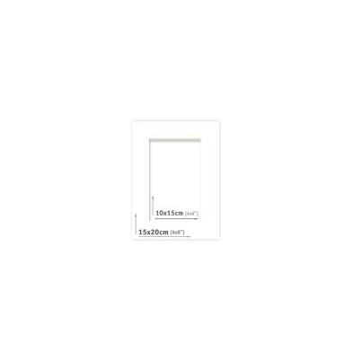 Passpartout - 15x20 (10x15) Blanco |