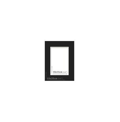 Passpartout - 15x20 (10x15) Negro  
