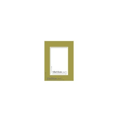 Passpartout - 15x20 (10x15) Verde |