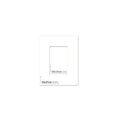 Passpartout - 20x25 (10x15) Blanco |