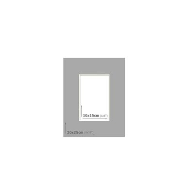 Passpartout - 20x25 (10x15) Gris Oscuro  