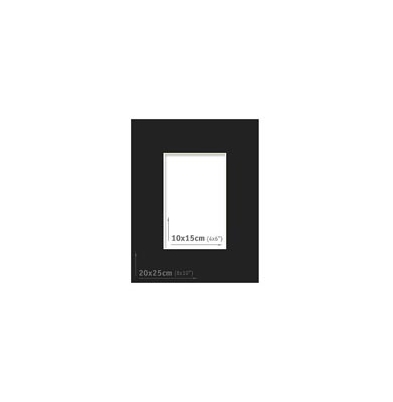 Passpartout - 20x25 (10x15) Negro |
