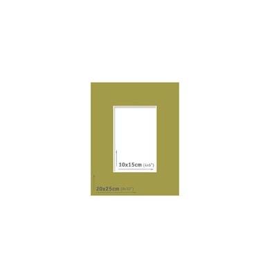 Passpartout - 20x25 (10x15) Verde |