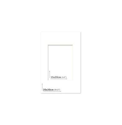 Passpartout - 20x30 (15x20) Blanco |