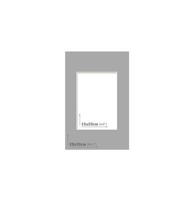 Passpartout - 20x30 (15x20) Gris Oscuro |