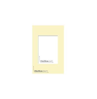 Passpartout - 20x30 (15x20) Marfil  