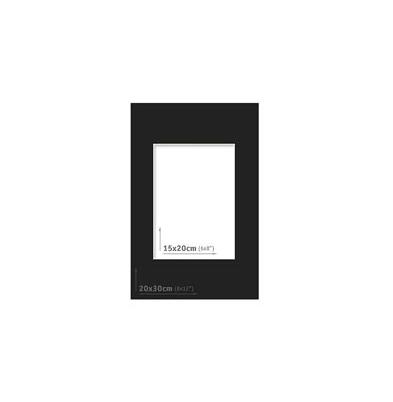 Passpartout - 20x30 (15x20) Negro |