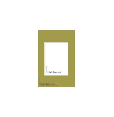 Passpartout - 20x30 (15x20) Verde |