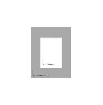 Passpartout - 24x30 (13x18) Gris Oscuro  