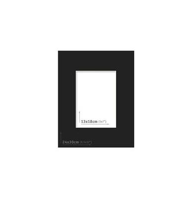 Passpartout - 24x30 (13x18) Negro |
