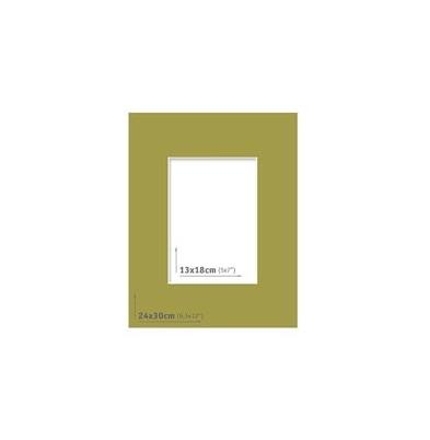 Passpartout - 24x30 (13x18) Verde |