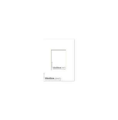 Passpartout - 30x40 (15x20) Blanco |