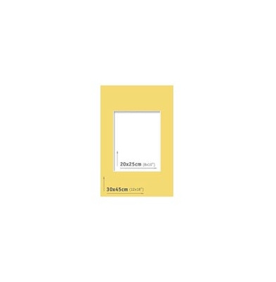 Passpartout - 30x45 (20x25) Amarillo  