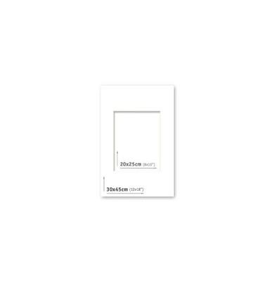 Passpartout - 30x45 (20x25) Blanco  