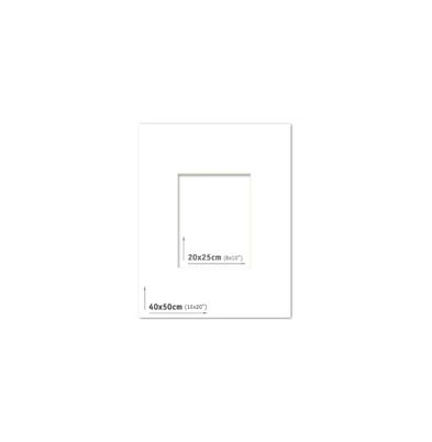 Passpartout - 40x50 (20x25) Blanco |