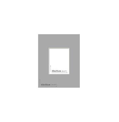 Passpartout 40x50 (20x25) Gris Oscuro