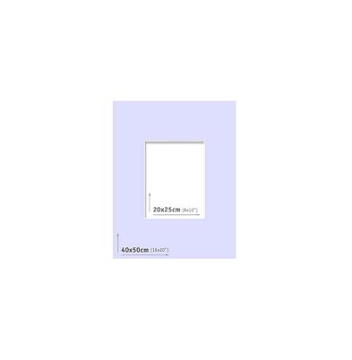 Passpartout 40x50 (20x25) Lila