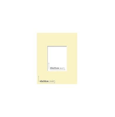 Passpartout 40x50 (20x25) Marfil