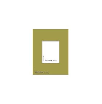 Passpartout 40x50 (20x25) Verde