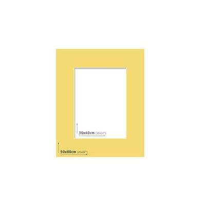 Passpartout - 50x60 (30x40) Amarillo  