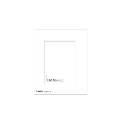 Passpartout 50x60 (30x40) Blanco