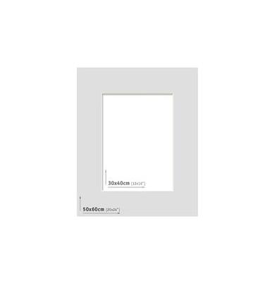Passpartout 50x60 (30x40) Gris Claro