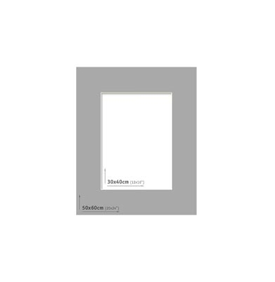 Passpartout 50x60 (30x40) Gris Oscuro