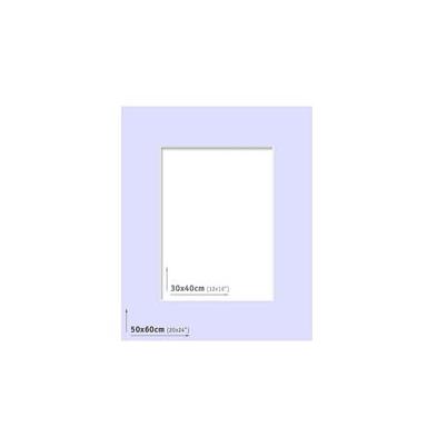 Passpartout 50x60 (30x40) Lila