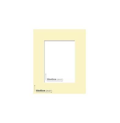 Passpartout 50x60 (30x40) Marfil