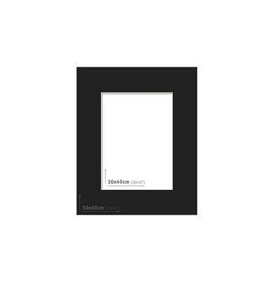 Passpartout 50x60 (30x40) Negro