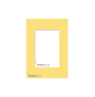 Passpartout 50x70 (30x45) Amarillo