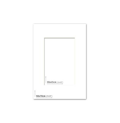 Passpartout 50x70 (30x45) Blanco