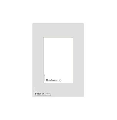 Passpartout 50x70 (30x45) Gris Claro