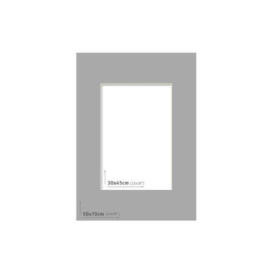 Passpartout 50x70 (30x45) Gris Oscuro