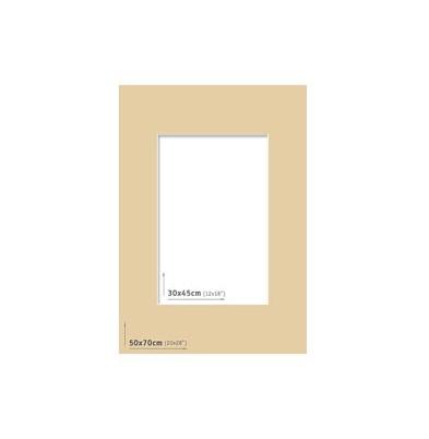 Passpartout 50x70 (30x45) Marrón