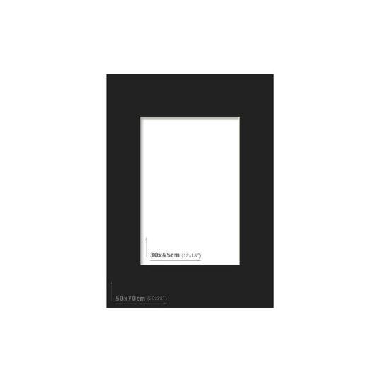 Passpartout 50x70 (30x45) Negro