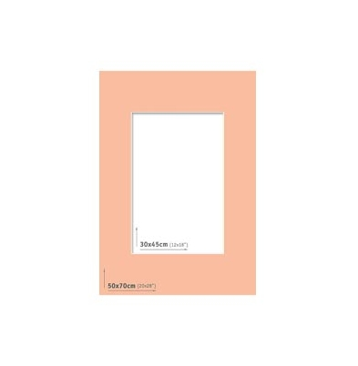 Passpartout 50x70 (30x45) Salmón
