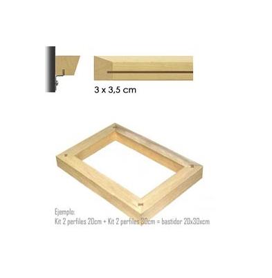 Marco Bastidor (3x3,5) Kit 2 Perfiles 100Cm